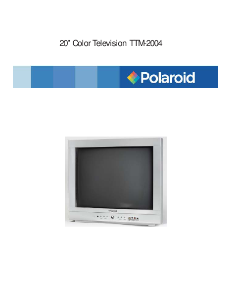 polaroid tv manual