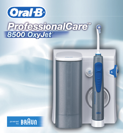 braun electric toothbrush 8500 oxyjet user 39 s guide. Black Bedroom Furniture Sets. Home Design Ideas