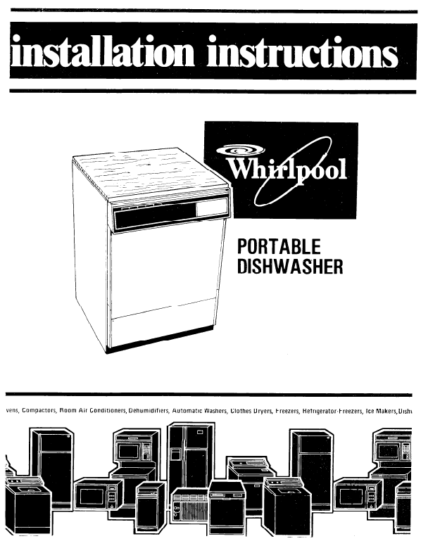 whirlpool dishwasher service manual