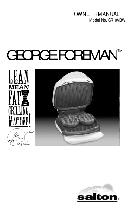 George Foreman Lean Mean Fat Reducing Grilling Machine User Manual