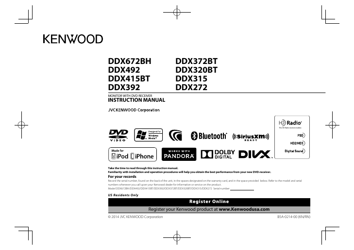Search kenwood user manuals manualsonline kenwood monitor with dvd receiver ddx372bt asfbconference2016 Choice Image