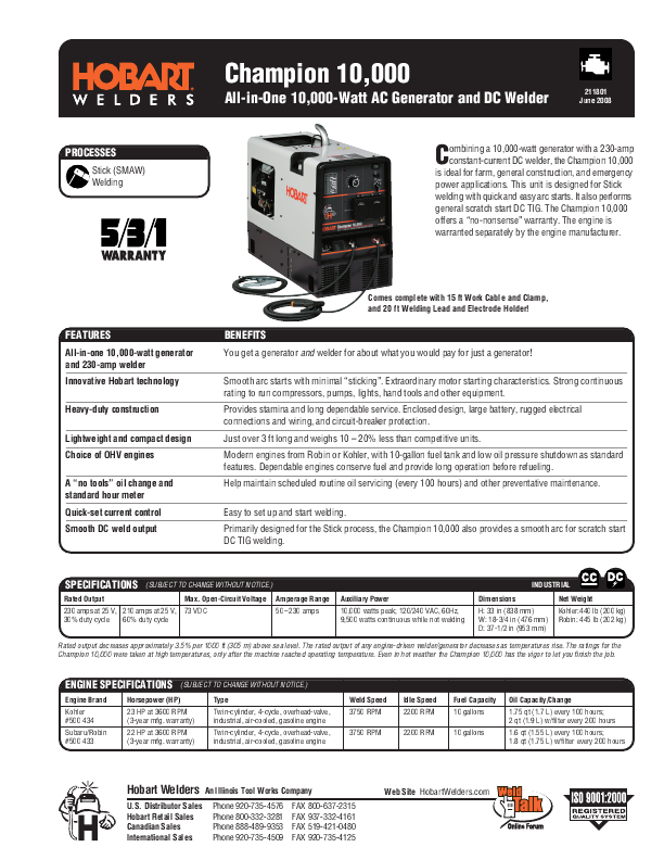 Fantastic Hobart Welding Wire Specifications Sketch - Everything You ...