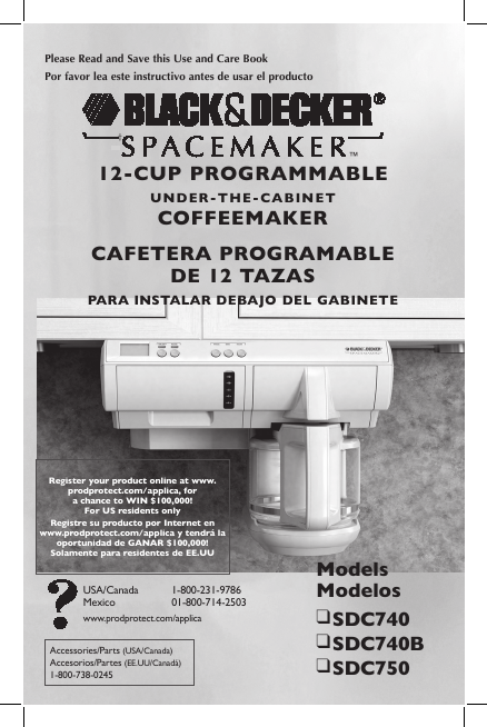 Black And Decker Coffee Maker User Manual : Black & Decker Coffeemaker SDC740 User s Guide ManualsOnline.com
