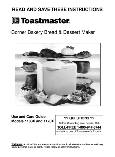 Breadman TR845 Bread Maker Machine Instruction Manual And Recipe