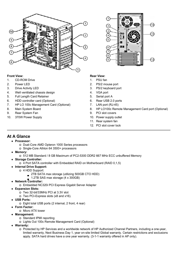 hewlett packard computer parts