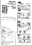 Panasonic Stereo Cassette Player Operating Instructions