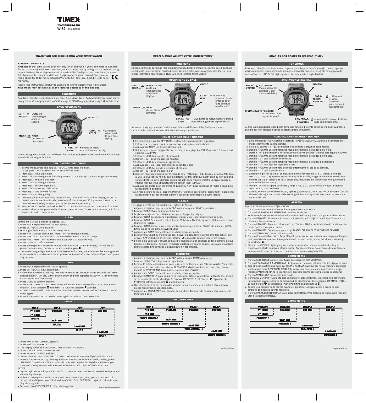 Инструкция К Часам Timex