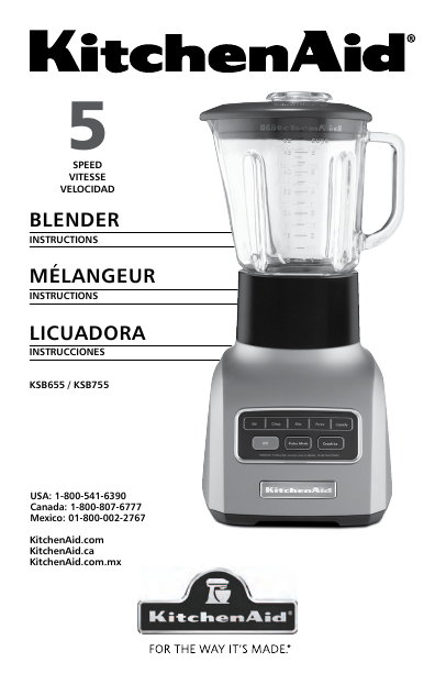 additional kitchenaid kitchenaid blender ksb655 blender literature