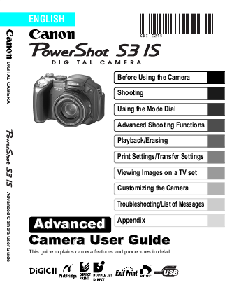 canon digital camera s3 is user s guide manualsonline com canon user guide manual canon user guide sx410is camera