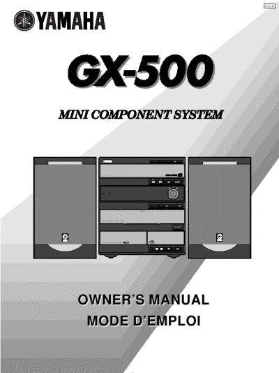 Yamaha Mini Component System Owner's Manual