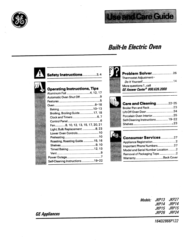 belling oven grill instructions