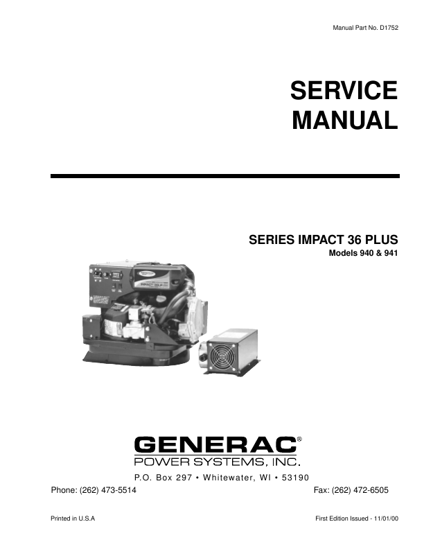 Search battery charger user manuals manualsonline generac power systems series impact 36 plus 940 swarovskicordoba Image collections