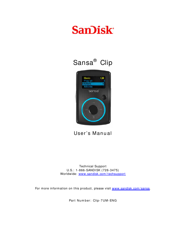 search cd player user manuals manualsonline com rh tv manualsonline com user manual for sandisk sansa clip mp3 player sandisk sansa clip sport mp3 player manual