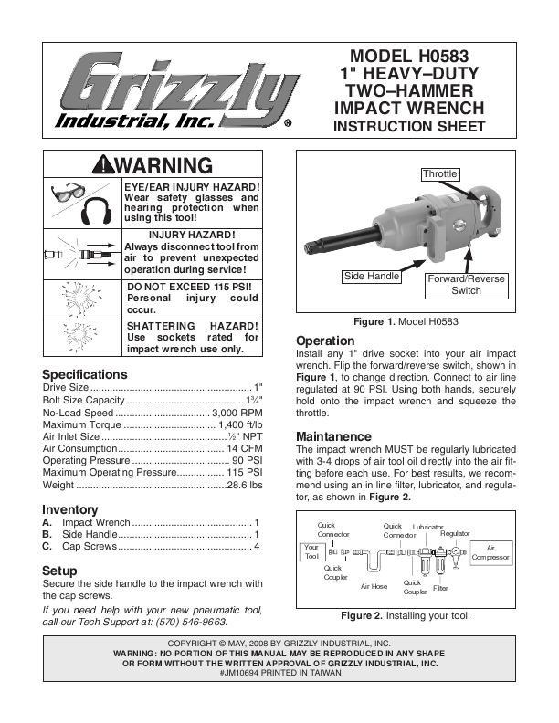 Search cordless user manuals manualsonline grizzly h0583 publicscrutiny Gallery